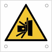"""Plaques de signalisation pour machines """"Danger d'écrasement du corps"""""""