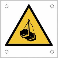 """Plaques de signalisation pour machines """"Danger charges suspendues"""""""
