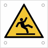 """Plaques de signalisation pour machines """"Danger, surface glissante"""""""