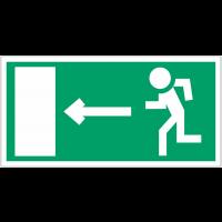 """Panneau en polycarbonate """"Homme qui court, flèche à gauche"""""""