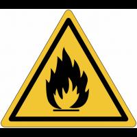 """Panneau en polycarbonate """"Danger matières inflammables"""""""