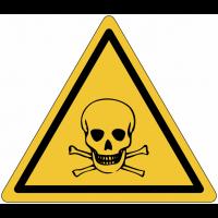 """Panneau en polycarbonate """"Danger, matières toxiques"""""""