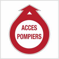 """Signalisation adhésive """"Baies accessibles pour pompiers - Accès pompiers"""""""