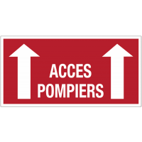 """Signalisation adhésive """"Flèche en haut - Accès pompiers"""""""