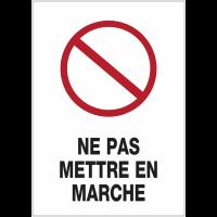 """Panneau magnétique A6 """"Interdiction générale - Ne pas mettre en marche"""""""