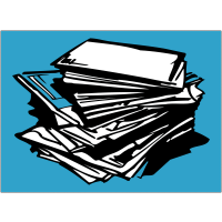 """Autocollant """"Tri sélectif des déchets"""" pour papier"""