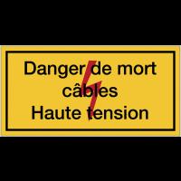 Panneau de danger électrique - Danger de mort câbles haute tension