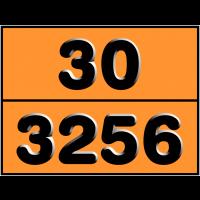 Plaque de signalisation de transport dangereux personnalisée