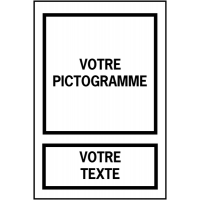 Panneau grand format avec symbole et texte à personnaliser