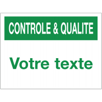 Panneau de contrôle et de qualité à personnaliser