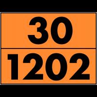 Autocollant de signalisation de transport dangereux