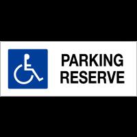 """Panneau de parking """"Ascenseur accessible aux fauteuils roulants"""""""