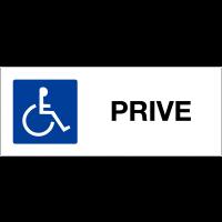 """Panneau de parking """"Handicapés - Privé"""""""