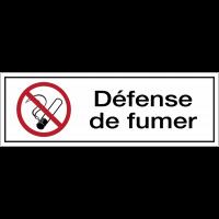 Panneau PVC adhésif - Défense de fumer