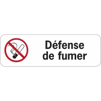 Panneau adhésif en PVC - Défense de fumer