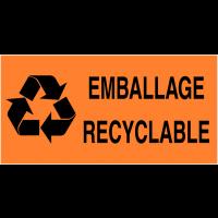 """Etiquettes d'expédition fluorescentes """"Tri sélectif des déchets - Emballage recyclable"""""""