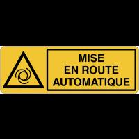 Panneau pour machine automatique - Mise en route automatique