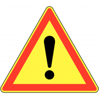 """Panneau de signalisation temporaire pour cône """"Danger général"""""""