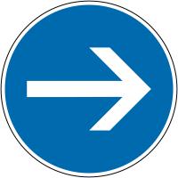 """Panneau de signalisation temporaire pour cône """"Flèche directionnelle orientable"""""""