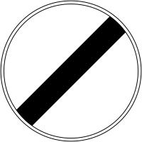 """Panneau de signalisation temporaire pour cône """"Fin à toutes les interdictions précédemment signalées"""""""