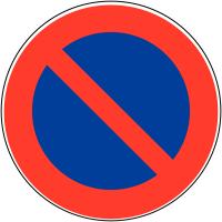 """Panneau de signalisation temporaire pour cône """"Stationnement interdit"""""""