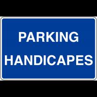 Panneaux d'information de parking - Parking Handicapés