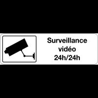 Panneau d'information de surveillance - Surveillance vidéo 24h/24h