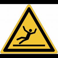 """Panneaux ISO 7010 """"Danger, surface glissante"""" - W011"""