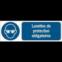 Panneaux ISO 7010 d'obligation à message horizontal - Lunettes de protection - M004
