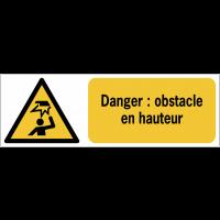 Panneaux ISO 7010 de danger à message horizontal - obstacle en hauteur - W020