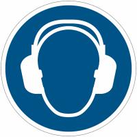Panneaux et autocollants NF EN ISO 7010 Serre-tête antibruit obligatoire - M003