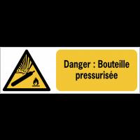 Panneaux ISO 7010 de danger à message horizontal - Bouteille pressurisée - W029