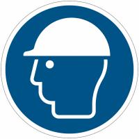 Panneaux et autocollants NF EN ISO 7010 Casque de protection obligatoire - M014