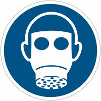 Panneaux et autocollants NF EN ISO 7010 Protection des voies respiratoires obligatoire - M017