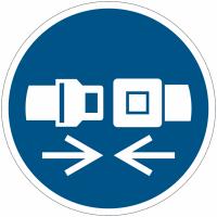 Panneaux et autocollants NF EN ISO 7010 Attacher la ceinture de sécurité - M020