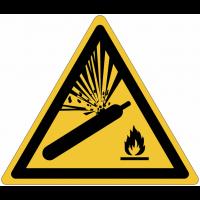 """Panneaux ISO 7010 """"Danger, bouteille pressurisée"""" - W029"""
