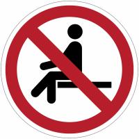 "Panneaux ISO 7010 ""Interdiction de s'asseoir"" - P018"