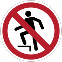 """Panneaux ISO 7010 """"Interdiction de marcher sur la surface"""" - P019"""