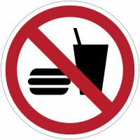 Pictogramme ISO 7010 en rouleau Interdiction de manger ou de boire - P022