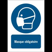 Panneaux ISO 7010 à message vertical - Masque obligatoire - M016