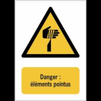 Panneaux ISO 7010 de danger à message vertical - éléments pointus - W022
