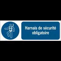 Panneaux ISO 7010 d'obligation à message horizontal - Harnais de sécurité - M018