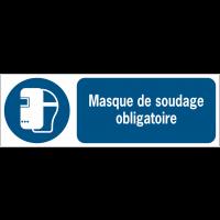 Panneaux ISO 7010 d'obligation à message horizontal - Masque de soudage - M019