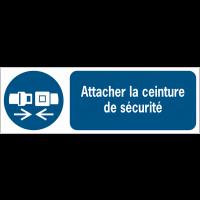 Panneaux ISO 7010 d'obligation à message horizontal - Attacher la ceinture de sécurité - M020