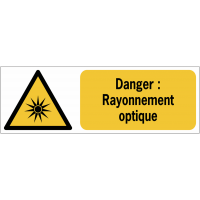 Panneaux ISO 7010 de danger à message horizontal - rayonnement optique - W027