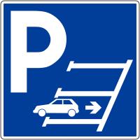 Panneau obligation de stationnement en marche arrière - Matériau PVC