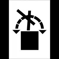 Etiquettes d'expédition ISO 780 - Renversement interdit