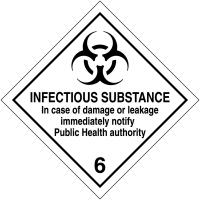 Signalisation de transport international - Matières infectieuses + texte