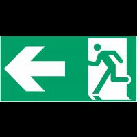 """Etiquette BAES """"Homme qui court, flèche à gauche"""""""