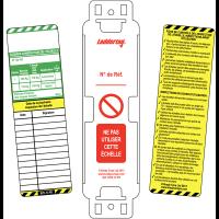 Plaquettes d'inspection pour échelles
